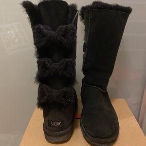 UGG Australia tall bailey knit bow boot